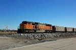 BNSF 9983 Leads a empty coal Nb into Old Monroe Mo.
