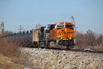 BNSF 6325 and NS 8142 lead this Hayti bound oil can.
