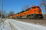 BNSF 9295 Heads up a loaded coal drag.