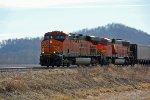 BNSF 6342 Heads up a empty coal train.