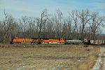 BNSF 5669 Leads a empty coal with a brand new BNSF SD70ace.