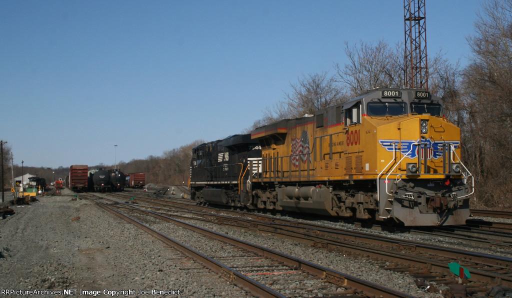 UP 8001 at Abrams Yard