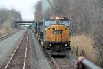 Northbound trash train Q702, with ex-Con 8745 leading, passes on track # 2 on its trip to Selkirk, NY