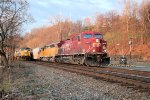 CP and CEFX power brighten up the morning as they head an empty ethanol train north towards selkirk NY and points west