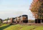 Q417-16 comes upgrade heading south at CP-22 in the fall afternoon sun