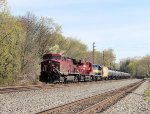 Southbound crude oild train K048 rolls past on a sunny morning bound for Philly