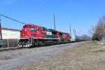 Southbound ethanol train K634 with Mexican and Canadian power this day