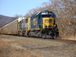 Q254 with a very clean SD40-2, heads south for Ridgefield Heights NJ