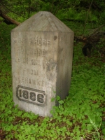 Marker in the woods at MP 53, but  next to where the NYO&W came in to the NYC
