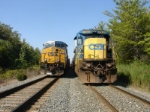 Old and new GE cabs sit side by side between CP-128 and CP-SK