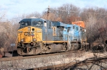 Q164-15 rounds the bend at MP 4 approaching CP-3 as it heads for Kearny, NJ