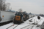 Locals C711 and C712 power lays over in the yard