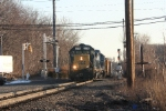 Q434-03 with a GP-38-2/C40-8/C40-8w combo departs off track 1 at CP 10 northbound
