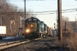 Q434-03 with a GP38-2 leading crosses New Bridge Road, northbound at CP-10