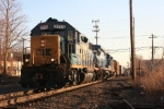 Q434-03 departing CP-10 passes the old Northeast Container switch