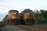 Q417-12(Left) waits for a signal at CP-3 while Q439(right) waits for a new crew