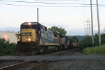 Q418-31, with an ex NYS&W B40, rolls north at the end of the day...