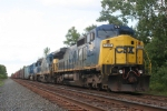 X433-19, with two ex CR units in the consist, hold the siding at CP-128