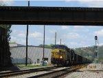 a Csx empty coal train headed to huntington