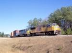 UP 3857 entering CSX Fairburn Intermodal