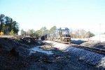 932 Herzog ballast train runs through Lexington