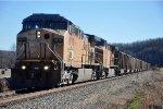 Empty coal train rolls north