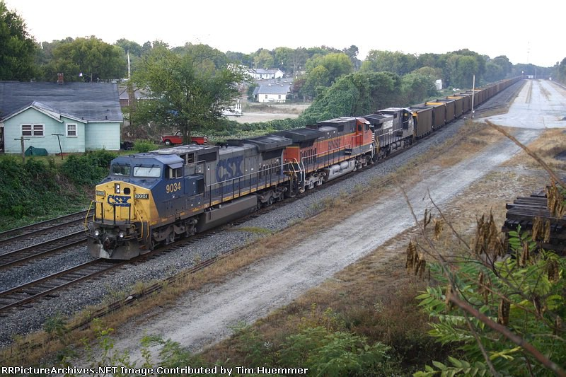 Parked coal train