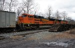 BNSF 4386 with 9367 side view