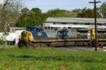 Southbound hopper train leaves