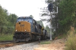Q692 pulls into the siding