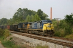Loaded coal train departs