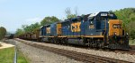 3/4 view of B01406 rail train.  Note blue flag protection on the NS's (ex-SOU) old main line