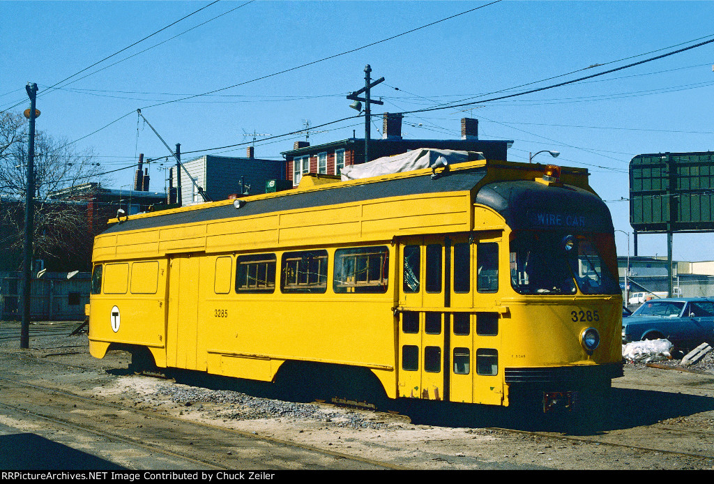MBTA PCC Wire Car 3285