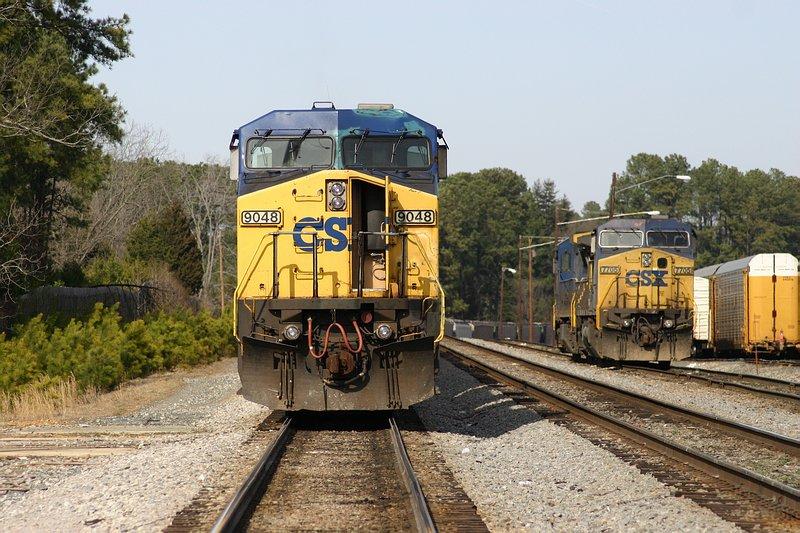 Grain train parked on Main 1