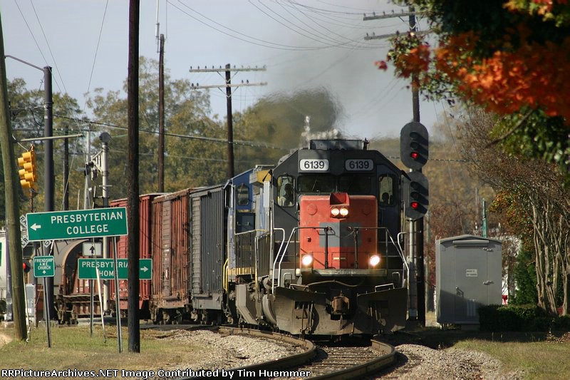 """F782 passing the signal at """"downtown Clinton"""""""