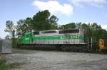 GCFX loco switching the yard