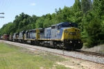 Northbound freight breezes past