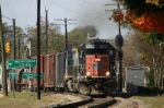"F782 passing the signal at ""downtown Clinton"""