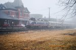 A foggy morning at the Erie Depot