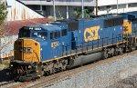 CSX 8724 leading Q609