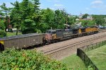 Westbound empty hoppers and DPUs on the UP Jefferson City Subdivision