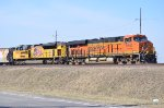 Oil train power laying over in UP Dupo Yard