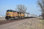 Union Pacific southbound soda ash train