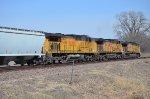 Union Pacific southbound soda ash train DPU's