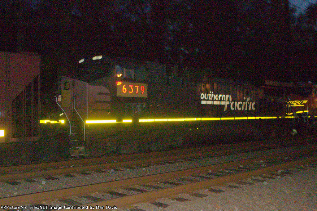 """UP AC44CW 6379 """"Southern Pacific"""" trails on K042-06"""