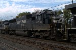 NS SD40E 6339 trails on 211