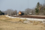 BNSF 6093 crosses over from main track to TMPA running track