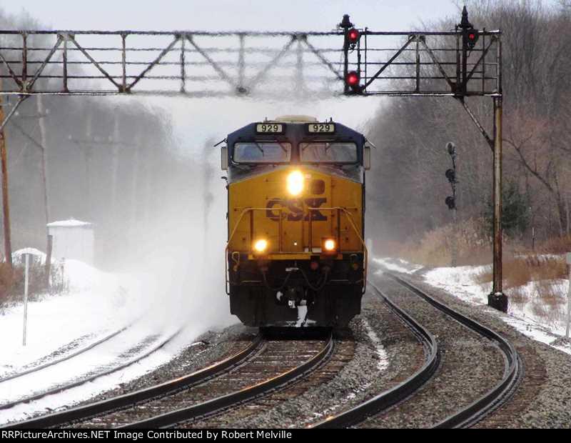 CSX 929 westbound at CP 380