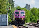 MBTA 2036 leads an outbound into Fitchburg