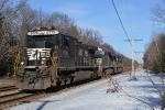 Autorack train power heads back to the Hill Yard